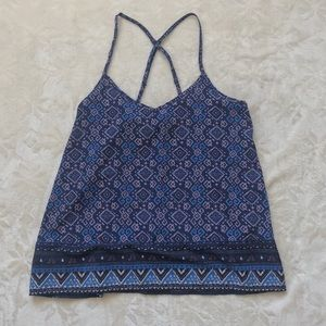 Blue cross back loose tank